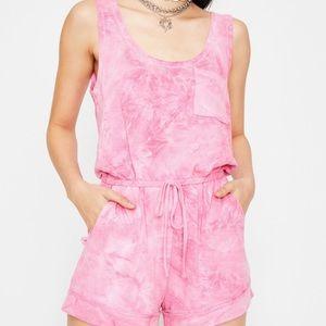 Tie dye pink romper